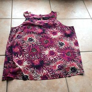 3/$30 Lane Bryant Stretch Floral Print Tank 22/24W